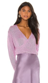 Michelle Mason Cross Wrap Sweater Bubblegum