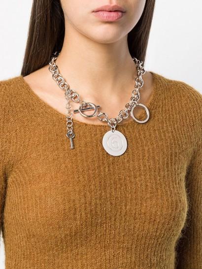 MM6 MAISON MARGIELA silver-tone chain necklace