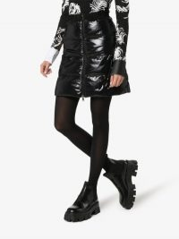 Moncler Quilted Zip-Up Mini Skirt