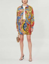 MOSCHINO Graphic-print denim jacket | multicoloured jackets