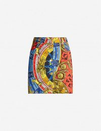 MOSCHINO Graphic-print denim mini skirt