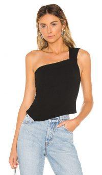 NBD Evie Top in Black   one shoulder summer tops