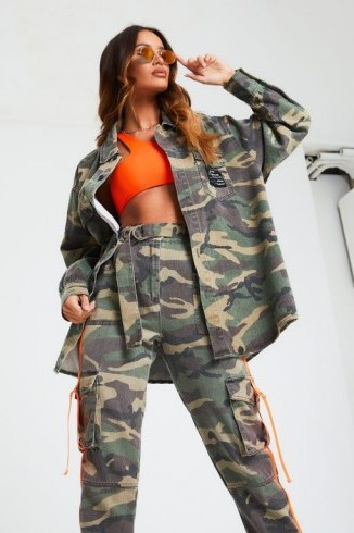 THE COUTURE CLUB OVERSIZED WASHED CAMO SHIRT / camouflage print shirts - flipped