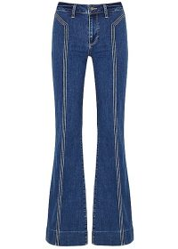 PAIGE Genevieve blue flared jeans ~ retro denim