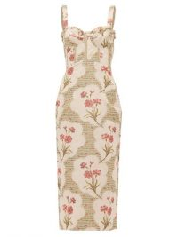BROCK COLLECTION Pelagia floral-print corseted midi dress