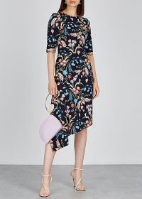 PETER PILOTTO Floral-print asymmetric cady dress