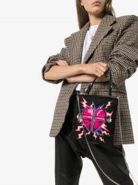 Prada Tessuto Heart Tote Bag / designer logo bags