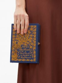 OLYMPIA LE-TAN Pride and Prejudice embroidered book clutch bag | romantically themed occasion bags