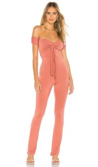 Privacy Please Rosalia Jumpsuit in Rose | pretty pink bardot all-in-one