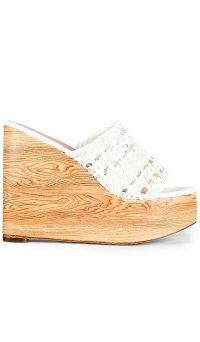 RAYE Pike Wedge in White | high summer wedges