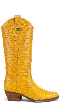 Sam Edelman Oakland Boot in Yellow Crocco