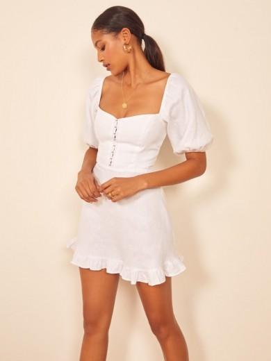 REFORMATION Seattle Dress White