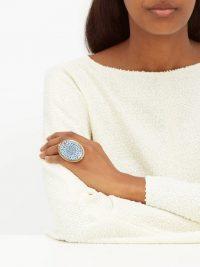 ROSANTICA BY MICHELA PANERO Sicilia tile ring | statement jewellery
