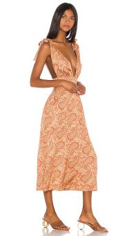 Song of Style x REVOLVE Priya Midi Dress in Moroccan Multi