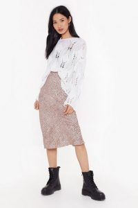 Nasty Gal Spot Going Home Plus Bias Hem Midi Skirt Pink