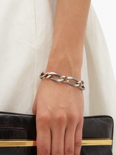 HUM Sterling silver & gold curb link bracelet