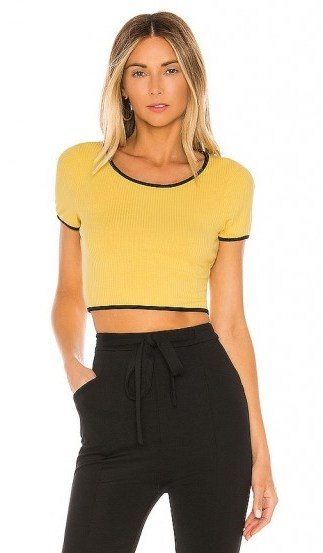 superdown Jolie Crop Top Yellow and Black - flipped