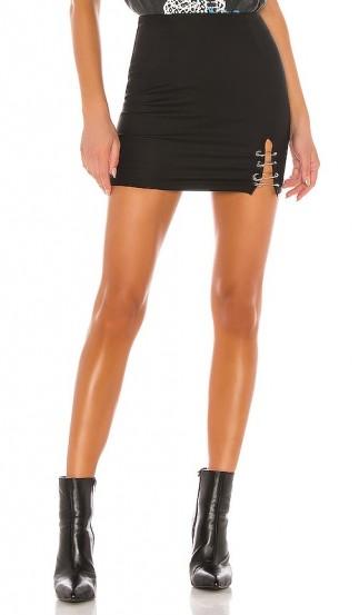 superdown Lorie Mini Skirt in Black