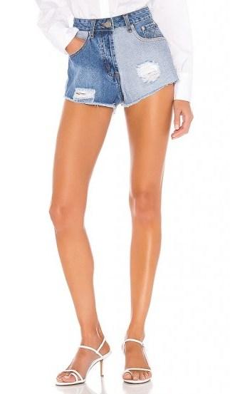 superdown Lydia Two Tone Short Blue Multi | distressed denim shorts - flipped