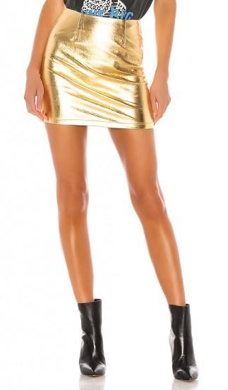 superdown Maye Mini Skirt in Gold