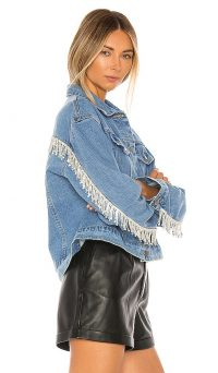 superdown Raya Rhinestone Fringe Jacket – denim jackets