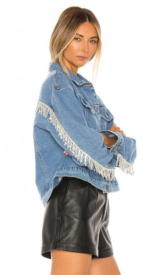 superdown Raya Rhinestone Fringe Jacket – denim jackets