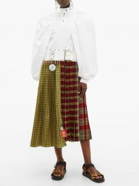 CHOPOVA LOWENA Tartan recycled-tapestry midi dress