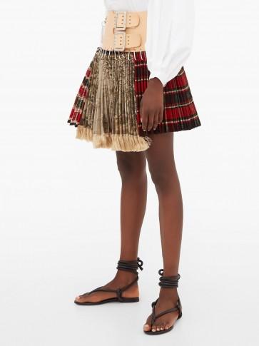 CHOPOVA LOWENA Tartan recycled-tapestry mini skirt