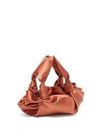 THE ROW The Ascot coral-satin clutch ~ small luxe handbag