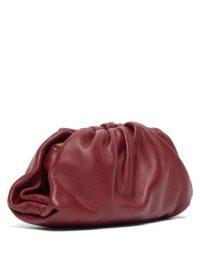 BOTTEGA VENETA The Pouch leather coin purse in burgundy