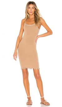 Tularosa Mauritius Dress in Natural   shell trimmed summer dresses