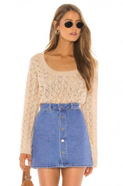 Tularosa Perri Sweater | scoop neck knitted top