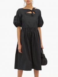 MOLLY GODDARD Veronica cut-out taffeta midi dress