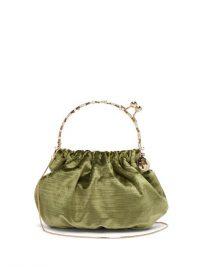 ROSANTICA BY MICHELA PANERO Versailles crystal-embellished velvet clutch bag