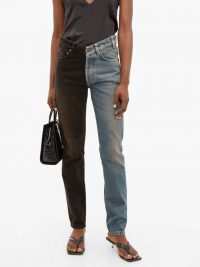 BALENCIAGA V-waist two-tone straight-leg jeans ~ contemporary casual clothing
