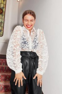 Nasty Gal We're Sheer for It Organza Blouse in White
