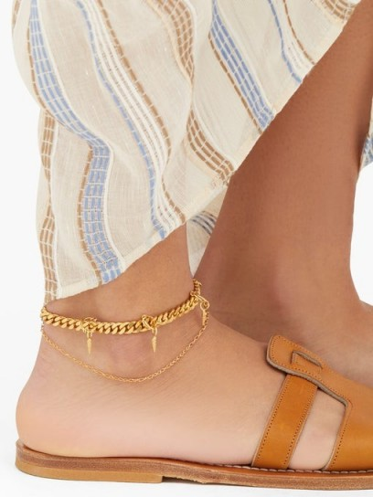 ORIT ELHANATI Wilma gold-plated charm anklet – double chain anklets