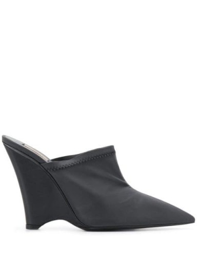 YEEZY angled wedge mules in black