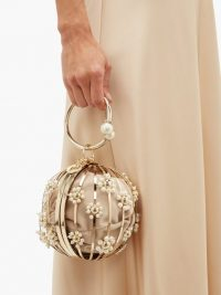 ROSANTICA BY MICHELA PANERO Yoko Ono floral-caged clutch bag ~ beautiful metallic bags