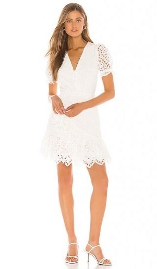Yumi Kim Be The One Dress – white puffed sleeve dresses - flipped