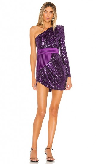 Zhivago Die Young Stay Pretty Dress in Grape / sparkly purple mini