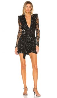 Zhivago In The Garden Mini Dress in Black / floral lace lbd