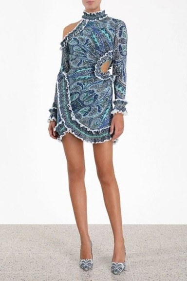 Zimmermann Moncur Asymmetric Mini Dress