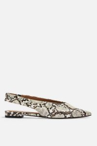 Topshop ABELLA Slingback Shoes in Natural | snake prints