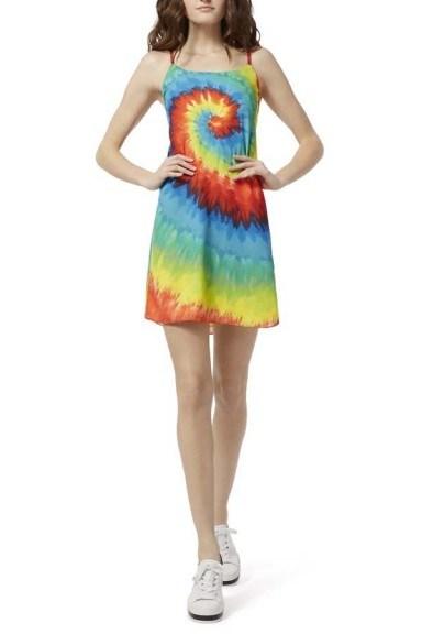 Alice + Olivia Emmie Tie Dye Mini Dress - flipped