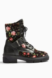 Topshop AMERICA Floral Print Hiker Boots | Fall footwear
