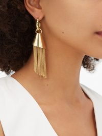 ELLERY Amplifier Spiral chain earrings ~ tasseled jewellery
