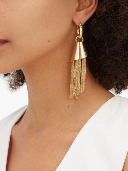 ELLERY Amplifier Spiral chain earrings ~ tasseled jewellery - flipped