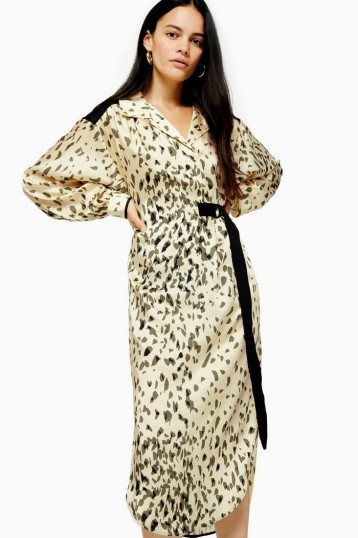 TOPSHOP Animal Smock Dress By Boutique