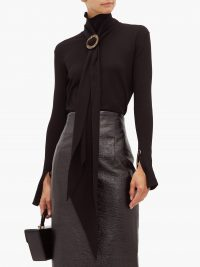 ELLERY Asher high-neck scarf top in black